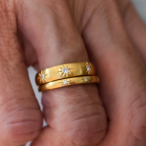 Stargazing Wide Band Ring