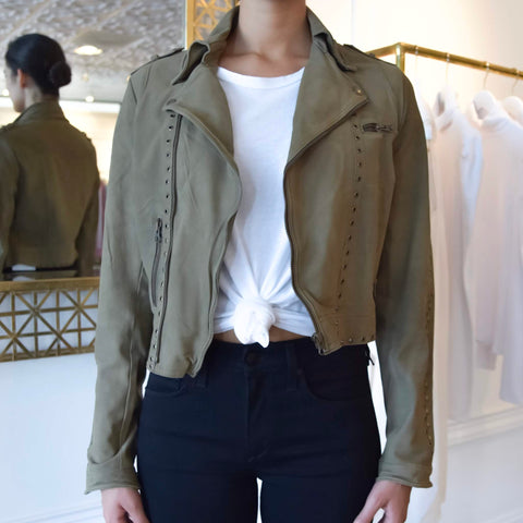 Savannah Matte Leather Jacket