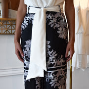 Ambrose Wide Leg Cupro Pant with Waist Tie
