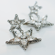Elizabeth Cole / Double Star Drop Earrings