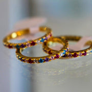 Gold Rainbow Stack Eternity Ring