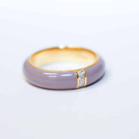 Enamel Diamond Ring
