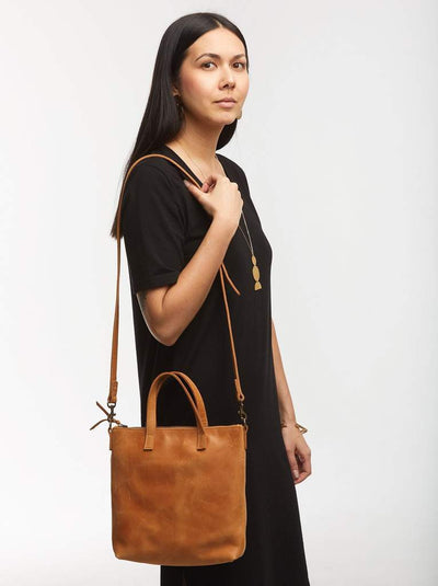ABLE Abera Commuter Leather Handbag - Cognac