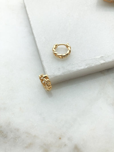 Ivy Small Huggie 16K Plated Gold Earrings