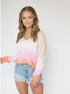 Sanctuary Clothing Horizon Ombre Pink Sherbert Long Sleeve Sweater