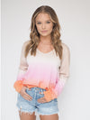 Sanctuary Horizon Ombre Pink Sherbert Long Sleeve Sweater