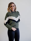 Sanctuary Apres Ski Aspen Green Stripe Sweater