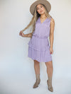 Naked Zebra Clothing Lavender Midi Dress