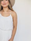 Naked Zebra Clothing Back to Basics Silky Cami Tank in White