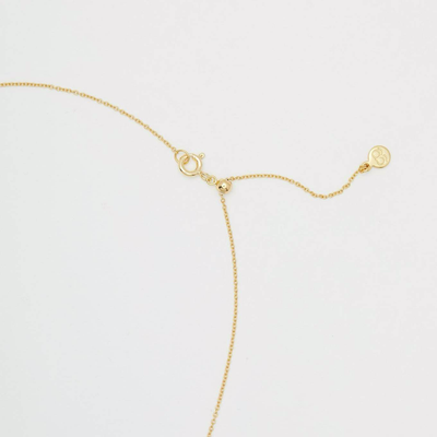 Gorjana Luna Crescent Necklace-Gold