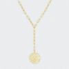 Gorjana Ana Coin Lariat Necklace-Gold