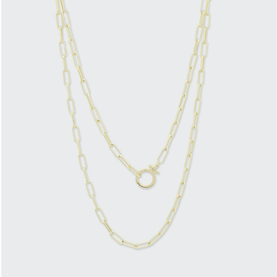 Gorjana Parker Wrap Necklace | Gold and Silver