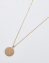Admiral Row Pave Disc Coin Gold Necklace