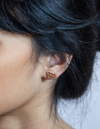Admiral Row Gold Honeycomb Stud Earrings