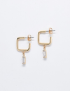 Admiral Row Gold Square Diamond Huggies Earrings