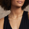 Gorjana Taner Bar Small Necklace | Gold and Silver