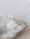 Hello Adorn Tiny Lightning Bolt Gold Studs