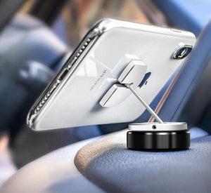 Universal Re-attachable Phone Mount, Three Ways To Fix: Sticker, Magnet & Buckle