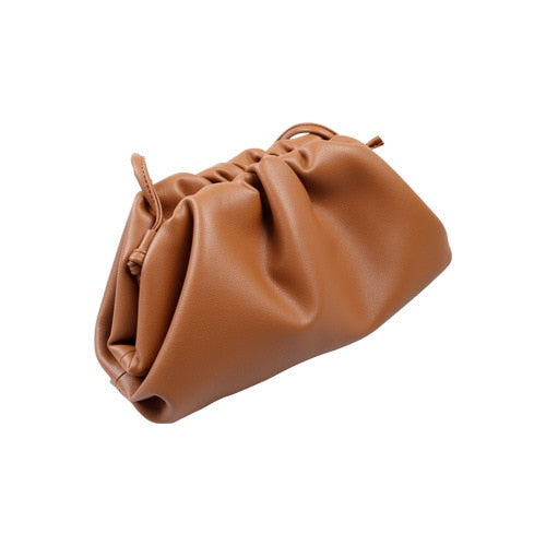 Ladies Dumplings Genuine Leather Bag 2019 Luxury Handbags Women Bags Designer Crossbody Shoulder Cow Leather Bag