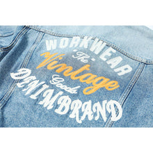 Load image into Gallery viewer, Denim Jacket Men Back Embroidery Letter High Quality Outwear Jackets Brand Clothing  Sj120024