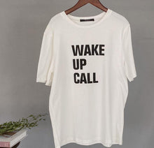 Load image into Gallery viewer, White Letter Printing T-shirts Summer Women Tops Harajuku Tees Short Sleeve Oversized