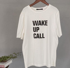 White Letter Printing T-shirts Summer Women Tops Harajuku Tees Short Sleeve Oversized