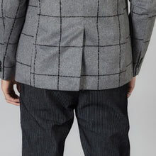 Load image into Gallery viewer, Casual Blazers Men Fashion Plaid Suits Jacket Wool Blend Checked Coats
