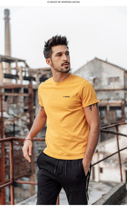T-shirt Men 100% Cotton Embroidered Casual T Shirt Basics O-neck High Quality