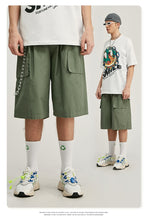 Load image into Gallery viewer, Cargo Shorts With Quick Dry In Pure Color Mens Shorter Shorts Cargo Shorts