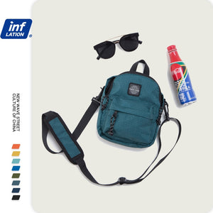 Unisex Candy Color Travel Shoulder Bags Retro Streetwear Fanny Pack