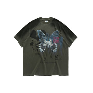 Tshirt Tie Dye With Butterfly Print Mens T Shirts Fashion 2020 Trending Summer