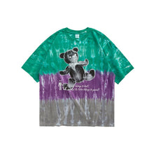Load image into Gallery viewer, Tshirt Tie Dye In 3 Colors Streetwear Hip Hop Men Tshirt With Bear Printing Oversized