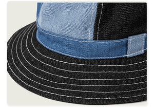Summer Fisherman Hat Men Streetwear Denim Fabric Cap Male Outdoor