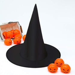 Halloween costumes for kids and adult black witch hat 6 pack