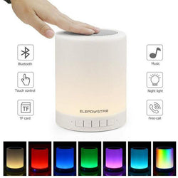 Bluetooth Wireless Speakers, Touch Sensor Bedside Table Lamp, Dimmable Color Changing Night Lights