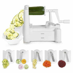 Spiralizer 5-Blade Vegetable Slicer, Strongest-and-Heaviest Duty