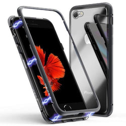 Metal Frame Tempered Glass back Phone Case for iPhone 8 Plus