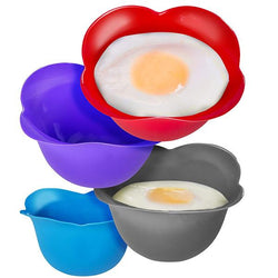 Non-Stick Silicone Egg Poacher For Microwave or Stovetop