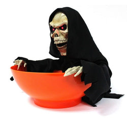 【Don't touch my candy】Skeleton Ghost Light Sensing Candy Bowl