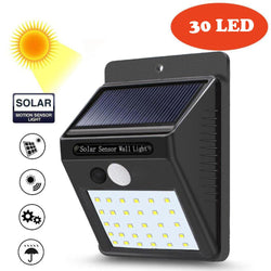 30 LED Solar Light Motion Sensor Waterproof Fence Lamps Home Garden Solar Powered Wall Lamp