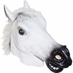 Halloween Novelty Deluxe Mask Fur Mane Horse Head Mask