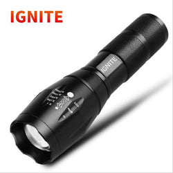 Ignite LED super light telescopic focusing system long shot 1000 meters waterproof outdoor smart flashlight
