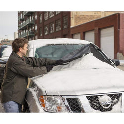 Magnetic Windshield Frost & Snow Cover, Standard/Large, Black