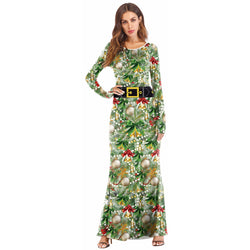 Women's Christmas Printed Dress#03