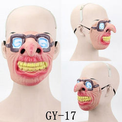 Funny Latex Half Face Masks For Halloween Masquerade Party Cosplay