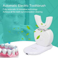 【HOT SALE】360 Degree Automatic Electric Toothbrush Rechargeable Sonic Dental Toothbrush USB Silicone Brush Teeth Heads Care Smart U Type