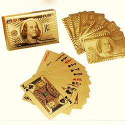 Advanced material custom version gold foil playing cards (very good luck)