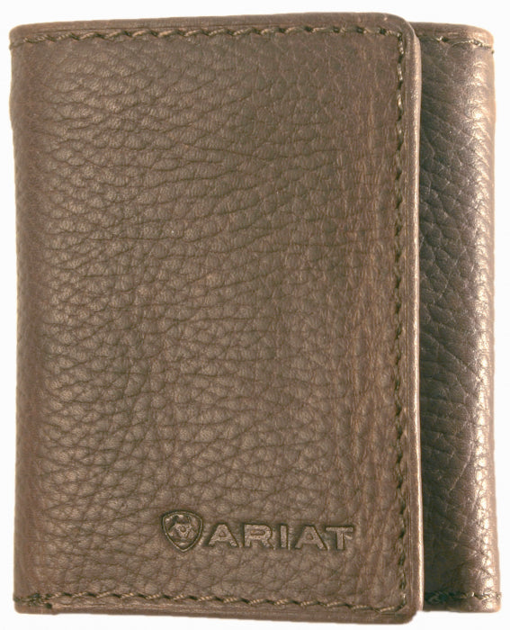 Ariat Tri-Fold Distressed Brown Wallet