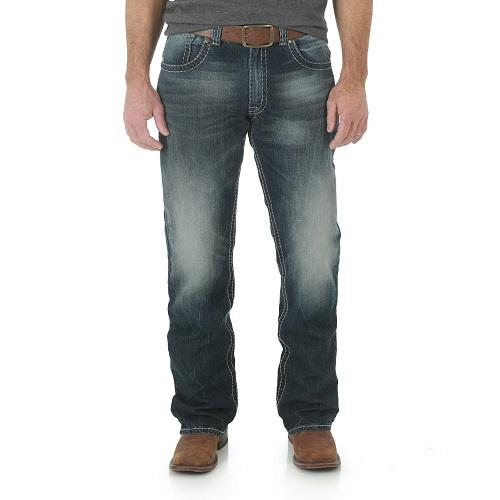 Wrangler Mens Rock 47 Slim Fit Bootcut Jean MRB47JB