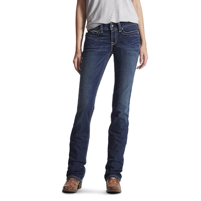 Ariat Womens REAL Mid Rise Straight Leg Jean 10017216